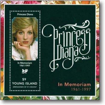 Lady Diana - Briefmarken-Block postfrisch, St.Vincent