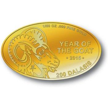 Jahr der Ziege, Goldmünze Gambia