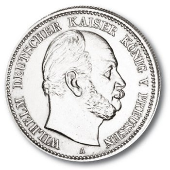 2 Mark Silbermünze, König Wilhelm I., Katalog-Nr. 96, Königreich Preußen