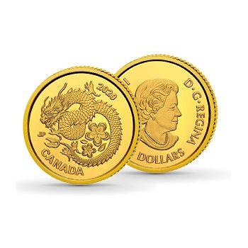 Lucky Flower Dragon - 8 Dollar Goldmünze, Canada