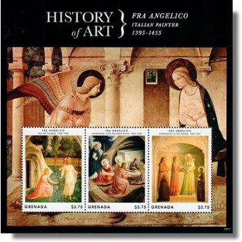 History of Art - Fra Angelico - Briefmarken-Block postfrisch, Grenada