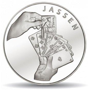 Kartenspiel Jassen, 20 Franken Münze 2014 Schweiz, Polierte Platte