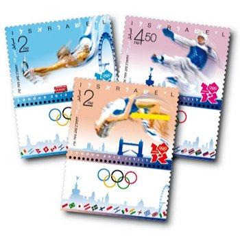Olympische Spiele 2012 - 3 Briefmarken postfrisch, Israel