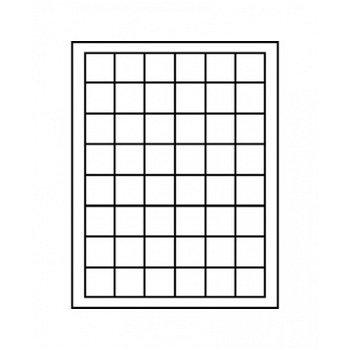 LINDNER Münzenbox, quadratische Vertiefungen 30mm, LI 2148, Carbo