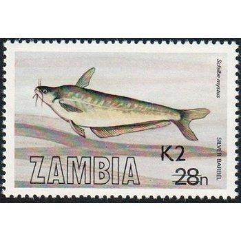 Fische - Briefmarke mit lokalem Aufdruck, Katalog-Nr. 559, Sambia