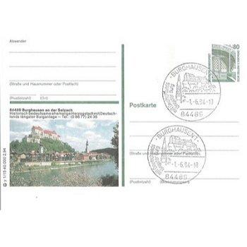 8263 Burghausen an der Salzach - picture postcard & quot; Castle & quot;