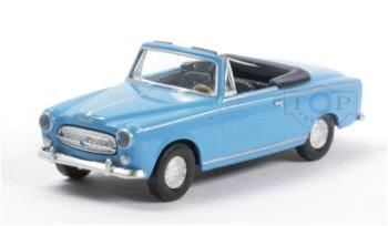 Modellauto:Peugeot 403 Cabrio, blau(Brekina, 1:87)