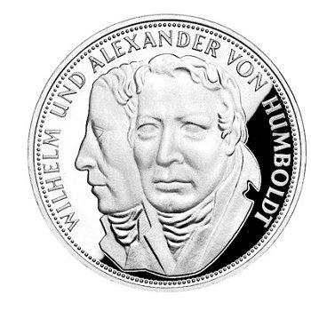 """5-DM-Silbermünze """"200. Geburtstag Wilhelm von Humboldt"""", Stempelglanz"""