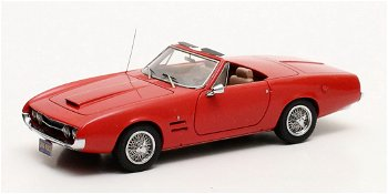 Modellauto:Ghia 450 SS Cabriolet von 1966, rot(Matrix, 1:43)