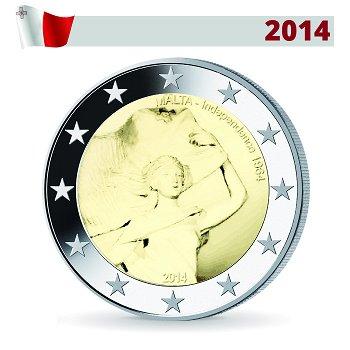 2-Euro-Münze 2014, 50 Jahre Unabhängigkeit, Malta