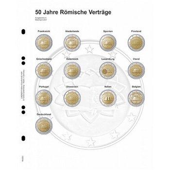 """Lindner Vordruckblatt für 2 Euro-Gedenkmünzen: Gemeinschafstausgabe """"Römische Verträge"""", L"""