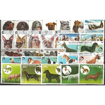 Dogs - 50 different stamps