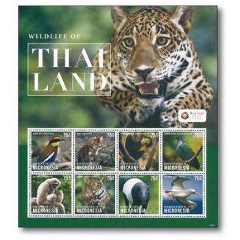 Wilde Tiere - Briefmarken-Block postfrisch, Micronesien