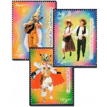 Karneval - 3 Briefmarken postfrisch, Katalog-Nr. 2125 - 2127, Peru