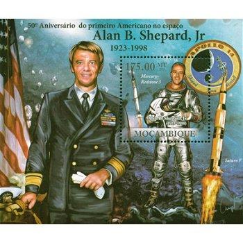 Weltraum/Alan B. Shepard - Briefmarken-Block postfrisch, Mocambique
