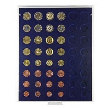 LINDNER Münzenbox, für Kursmünzensätze, LI 2506M, Marine
