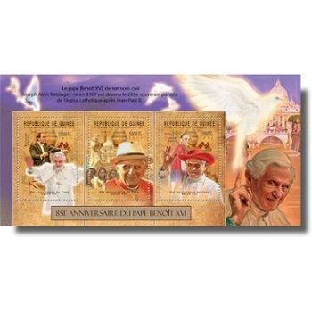 Papst Benedikt XVI. - Briefmarken-Block postfrisch, Katalog-Nr. 9372-9374, Guinea