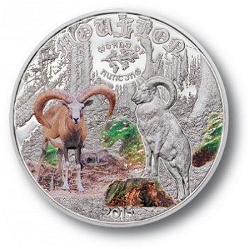 Mufflon, 2 Dollar Silbermünze Cook Inseln