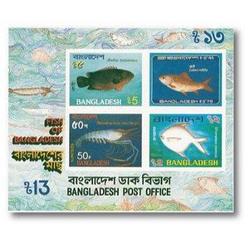 Fische - Briefmarken-Block postfrisch, Block-Nr. 11, Bangladesch