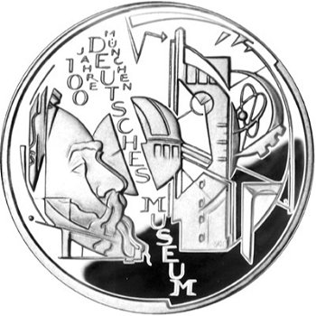 100 years of the Deutsches Museum, 10 euro silver coin 2003, brilliant uncirculated