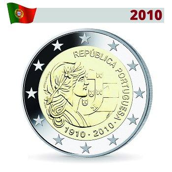 2 Euro Münze 2010, 100 Jahre portugiesische Republik, Portugal