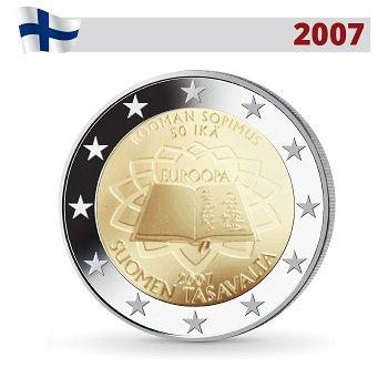 50 Jahre Römische Verträge, 2 Euro Münze 2007, Finnland