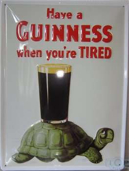 Blechschild:Guinness Schildkröte(30 x 40 cm)