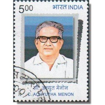 100. Geburtstag von Achyutha Menon - Briefmarke gestempelt, Katalog-Nr. 2698, Indien