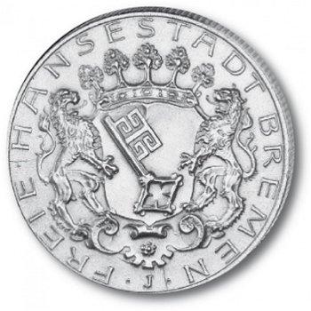 2 Mark Silbermünze, Katalog-Nr. 59, Freie Hansestadt Bremen