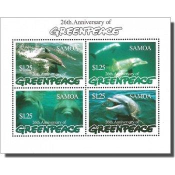 26 Jahre Umweltschutzorganisation Greenpeace – Briefmarken-Block postfrisch, Katalog-Nr. 864-867, Bl