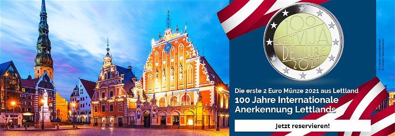 Lettland, Internationale Anerkennung, 2Euro, Münze, 2021, Sammelstück