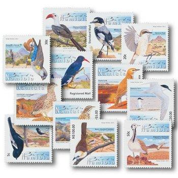 Vögel - 12 Briefmarken postfrisch, Namibia