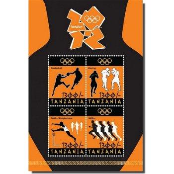Olympische Spiele 2012 - Briefmarken-Block, Tansania