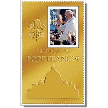 Papst Franziskus - Goldbriefmarke postfrisch, St.Vincent