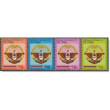 Wappen 2017 - 4 Briefmarken zusammenhängend postfrisch, Berg-Karabach