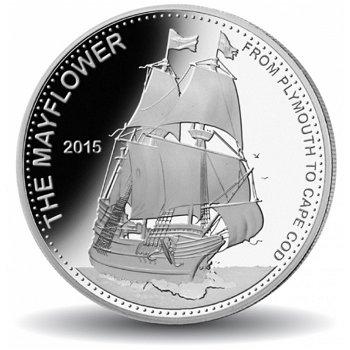 Geschichte der Seefahrt: Die Mayflower, Silbermünze, Vanuatu