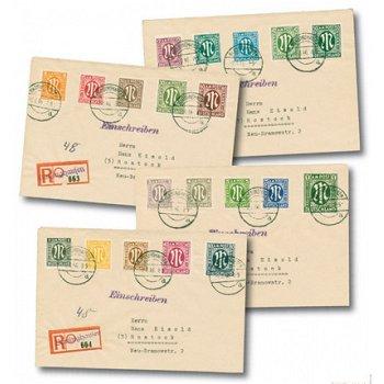 Vier Einschreibe-Briefe, Katalog-Nr. 16-35, Alliierte Besetzung