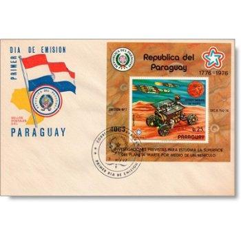 200 Jahre Unabhängigkeit der USA - Ersttagsbrief, Katalog-Nr. 2901 Bl. 294, Paraguay