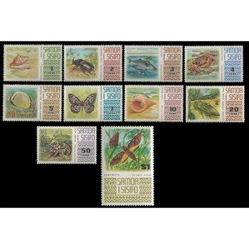 Freimarken: Tiere – zehn Briefmarken postfrisch, Katalog-Nr. 262-271, Samoa