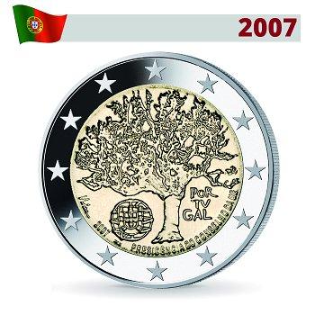 2 Euro Münze 2007, EU-Ratspräsidentschaft, Portugal