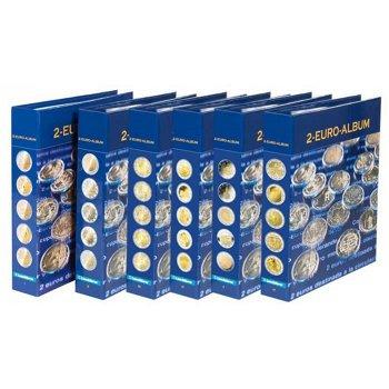 Set, Vordruckalben NUMIS, Band 1-8, für 2-Euro-Münzen, Leuchtturm 357466