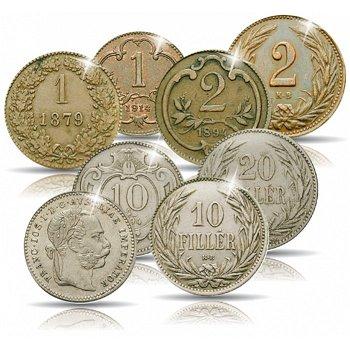 Kleingeld, 8 Münzen, Österreich-Ungarn