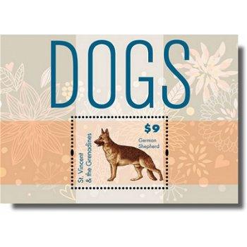 Hunde, Deutscher Schäferhund - Briefmarken-Block postfrisch, St. Vincent & Grenadinen