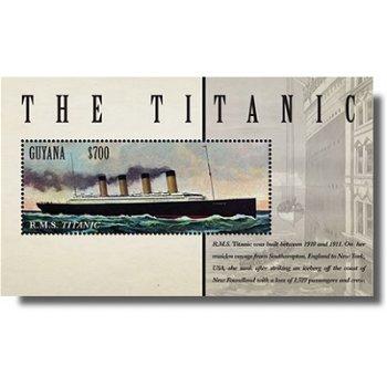 Titanic - Briefmarken-Block postfrisch, Guyana
