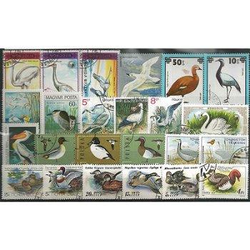 Wasservögel - 50 verschiedene Briefmarken