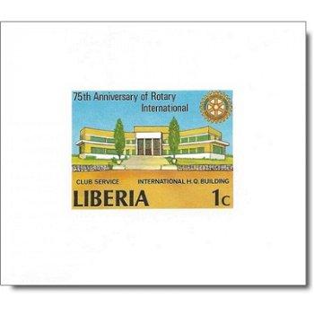 75 Jahre Rotary International - 6 Luxusblocks postfrisch, Katalog-Nr. 1161 B-1166 B, Liberia