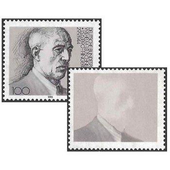 100. Geburtstag von Wilhelm Leuschner, Briefmarke postfrisch, Abart, Katalog-Nr. 1466 F, Bund