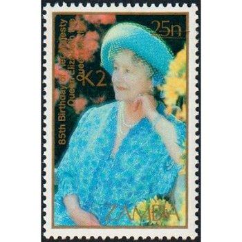 Königin Elisabeth II. - Briefmarke mit lokalem Aufdruck, Katalog-Nr. 557, Sambia