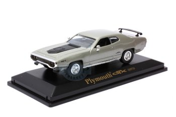 Modellauto:Plymouth GTX von 1971, silber(Collection 711, 1:43)