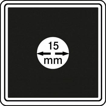 Münzkapseln CARRÉE 15 mm, 4er Pack, LI 2240015